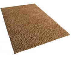 Teppich beige 160 x 230 cm Hochflor OREN