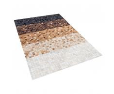 Teppich Leder schwarz/braun 160 x 230 cm TERME