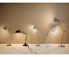 Tischlampe Nickel - Tischleuchte - Nachttischlampe - kostenlose Glühbirne - PATOKA