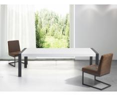 Esstisch Weiss - 220 cm - Küchentisch - Esszimmertisch - schwarzes Gestell - ARCTIC I