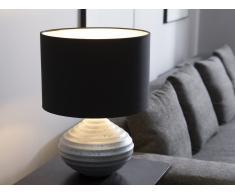 Tischlampe silber 45 cm KUBAN