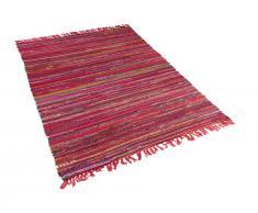 Teppich bunt 140 x 200 cm Kurzflor DANCA