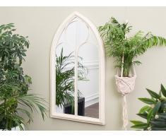 Wandspiegel weiß Fensteroptik 61 x 112 cm TRELLY