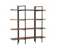 Bücherregal dunkler Holzfarbton COMPTON