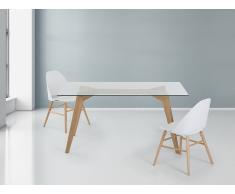 Esstisch - Glas - 160 cm - Küchentisch - Esszimmertisch - Designertisch - HUDSON