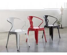 Stuhl Rot - Esszimmerstuhl - Küchenstuhl - Essstuhl - SUTTON