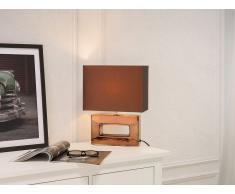 Tischlampe Braun - Tischleuchte - Nachttischlampe - Leselampe - Beleuchtung - ONYX