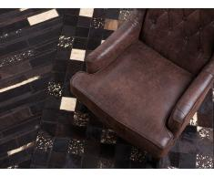 Teppich braun 140 x 200 cm Leder BANDIRMA