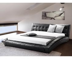 Wasserbett inkl. Wasserbettheizung, Wasserbettüberzug - 160x200 cm - LILLE schwarz