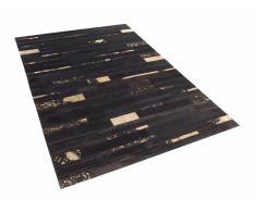 Teppich braun-gold 140 x 200 cm Leder ARTVIN