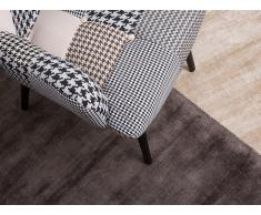 Teppich grau 160 x 230 cm Kurzflor GESI