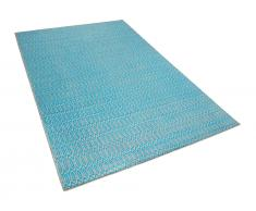 Teppich blau-beige 160 x 230 cm Kurzflor SILOPI