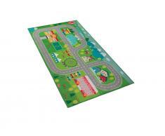 Kinderteppich grün Stadt-Motiv 80 x 150 cm SEBEN