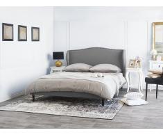 Bett Grau - Doppelbett 160x200 cm - Ehebett - Polsterbett - Stoffbett - COLMAR