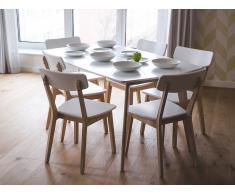 Esstisch Weiss - Küchentisch - Esszimmertisch - Speisetisch - Tisch - 150x90 cm - SANTOS