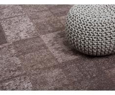 Teppich Braun - 160x230 cm - Polyester - Baumwolle - Läufer - Vorlage - TOSYA