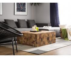 Couchtisch Holz mit bunten Elementen GAMBO