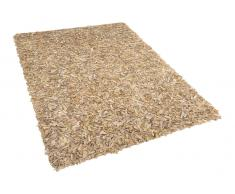 Teppich beige 140 x 200 cm Shaggy MUT