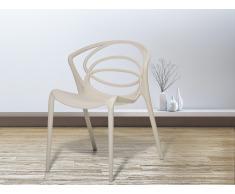 Stuhl Beige - Esszimmerstuhl - Gartenstuhl - Küchenstuhl - Essstuhl - BEND