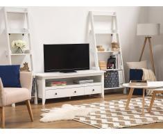 TV Möbel weiss 3 Schubladen BERKELEY