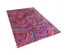 Teppich bunt 140 x 200 cm Hochflor KOZAN