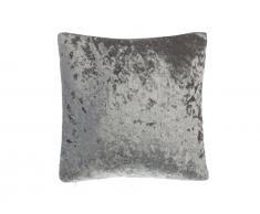 Dekokissen Samtstoff grau 45 x 45 cm HOSTA