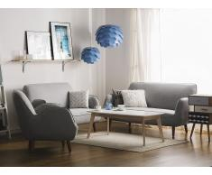 3-Sitzer Sofa Polsterbezug hellgrau KOUKI