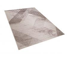 Teppich schwarz-hellrot 140 x 200 cm KALE
