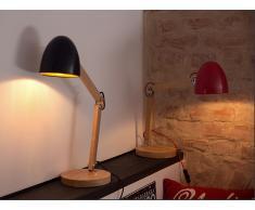 Tischlampe Rot - Tischleuchte - Nachttischlampe - Leselampe - Beleuchtung - ELIAS