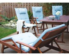 Auflage für Gartenstuhl TOSCANA hellblau