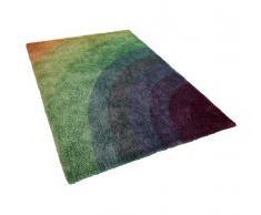 Teppich Regenbogenfarben 200 x 230 cm Hochflor BURSA