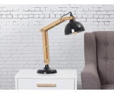 Tischlampe Schwarz - Beleuchtung - Nachttischlampe - Leselampe - Tischleuchte - SALADO