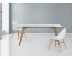 Esstisch - Glas - 180 cm - Küchentisch - Esszimmertisch - Designertisch - HUDSON