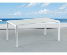 Gartentisch Weiss – 160 cm - Esstisch – Aluminium – Gartenmöbel – Outdoor - CATANIA