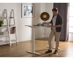 Schreibtisch weiss 160 x 70 cm manuell höhenverstellbar UPLIFT