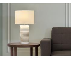 Tischlampe creme - Leselampe - Nachttischlampe - Tischleuchte - Beleuchtung - NAVIA