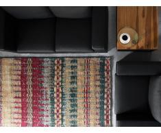Teppich bunt 140 x 200 cm Kurzflor MARMARIS