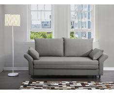 Sofa Grau - Schlafsofa - Couch - Bettsofa - Funktionssofa - Klappsofa - EXETER