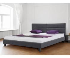 Polsterbett 140x200 cm - Bett - Stoffbett inkl. Lattenrost - Doppelbett - Grau - ORLEANS