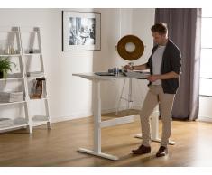 Schreibtisch Weiss 160 x 80 cm elektrisch höhenverstellbar UPLIFT