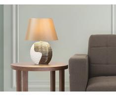 Tischlampe kupfer-beige - Leselampe - Nachttischlampe - Tischleuchte - Beleuchtung - ESLA