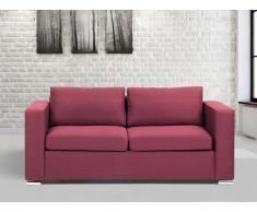 3-Sitzer Sofa Polsterbezug burgunderrot HELSINKI