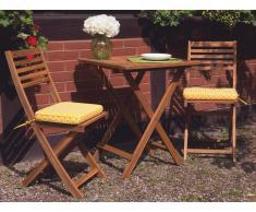 Auflage für Gartenstuhl FIJI im gelben Muster 29 x 38 x 5 cm