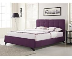 Polsterbett violett Lattenrost 140 x 200 cm AMBASSADOR