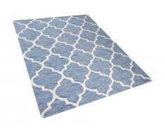 Teppich hellblau 160 x 230 cm Kurzflor YALOVA