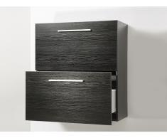 Badschrank - Hängeregal - Badezimmer - Schrank - Hängeschrank schwarz - MURCIA