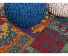 Teppich bunt 80 x 150 cm Kurzflor TOSYA