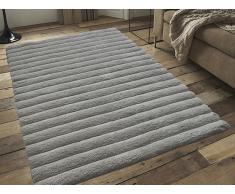 Teppich beige 160 x 230 cm Hochflor MUGLA