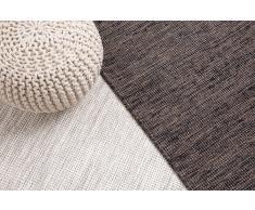Teppich Grau - 80x150 cm - Wolle - Baumwolle - Läufer - Vorlage - SARAY