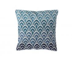 Dekokissen Ombre Muster Baumwolle blau 45 x 45 cm NIGELLA